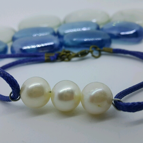 100% High Quality Sea Water Pearl Simple Bracelet2