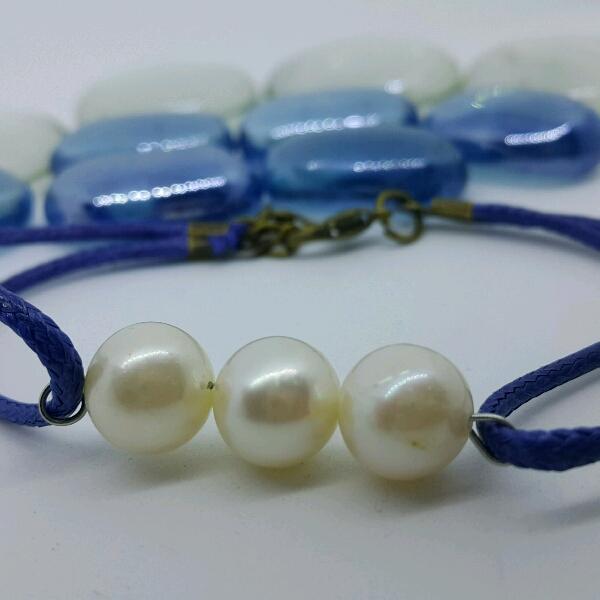 100% High Quality Sea Water Pearl Simple Bracelet2