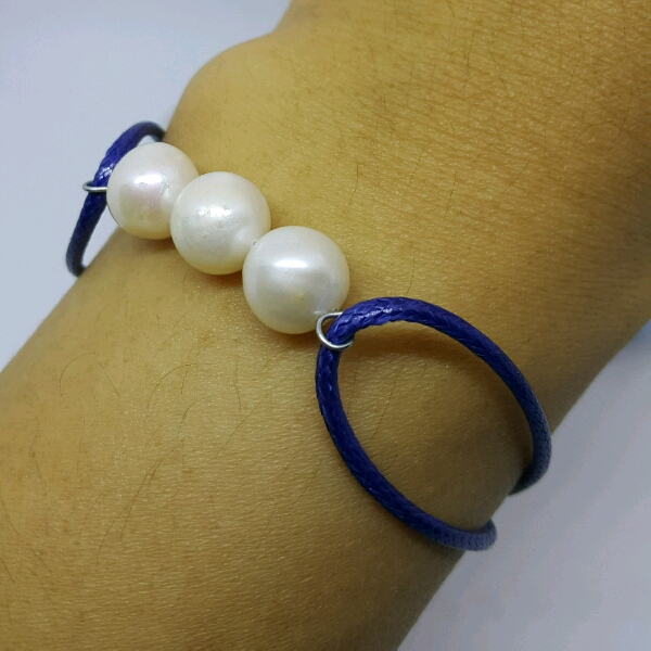 100% High Quality Sea Water Pearl Simple Bracelet3