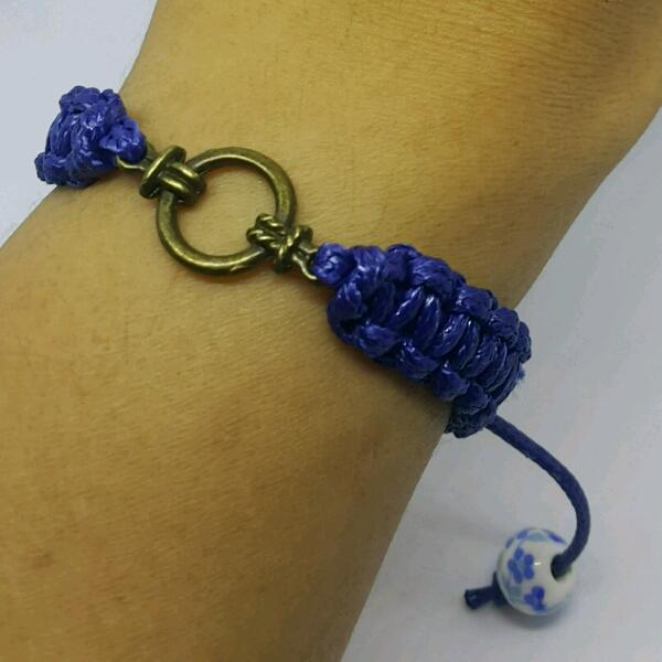 Divider Large Macrame Bracelet
