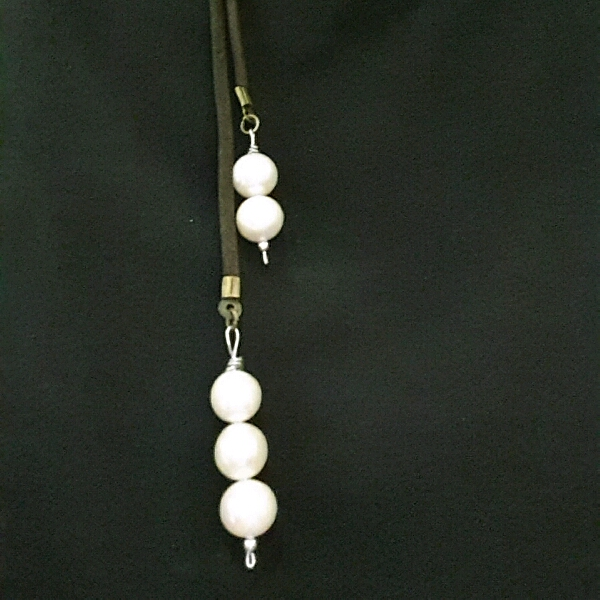 Easy Strap On Necklace With Genuine Sea Water Pearls2