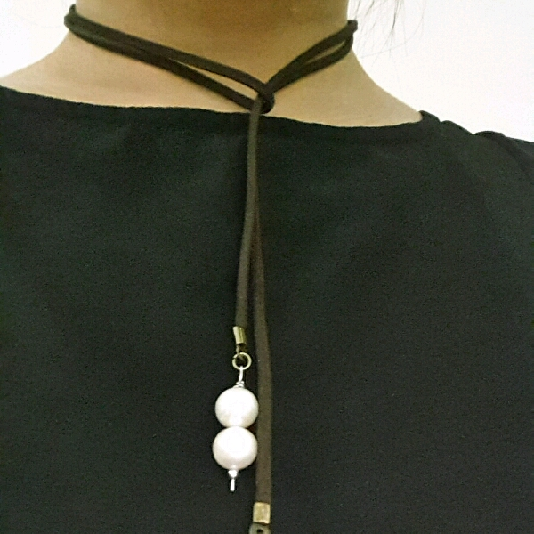 Easy Strap On Necklace With Genuine Sea Water Pearls3