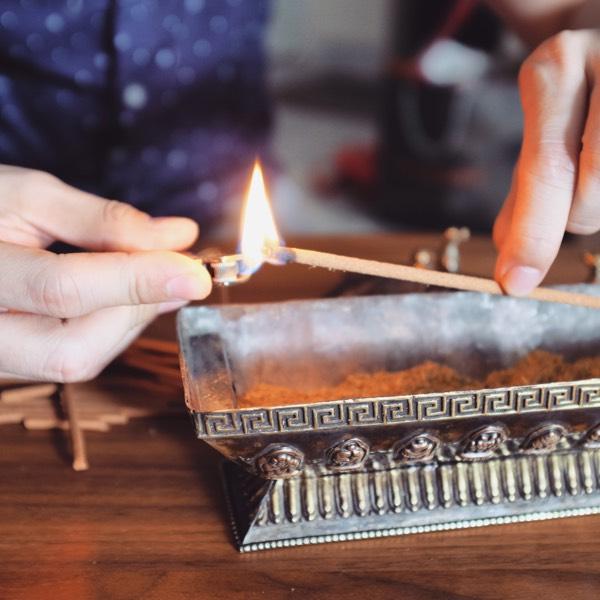 Copper Incense Burner + 100's Sticks - Meditation 3