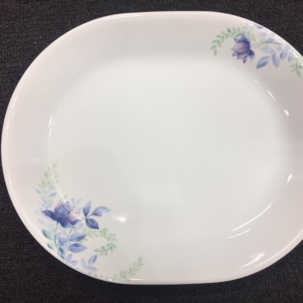 """Corelle® Livingware™ Deluxe Blue Floral 12.5"""" / 32cm Serving Platter0"""