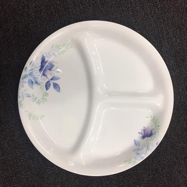 """Corelle® Livingware™ Deluxe Blue Floral 8.5"""" / 21cm Divided Dish0"""
