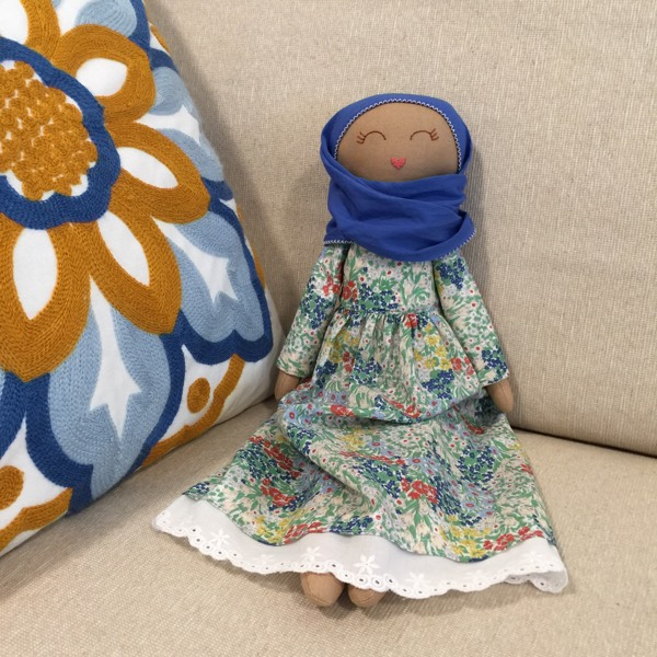 Sofia Handmade Heirloom Hijab Doll 4