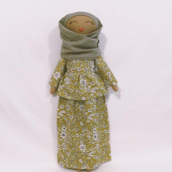 Sofia Handmade Heirloom Hijab Doll (Peplum)1