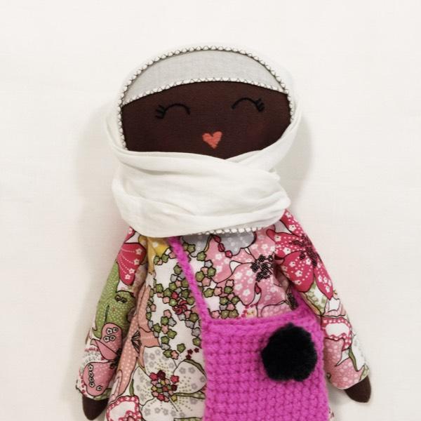 Sofia Handmade Heirloom Hijab Doll (Hitam Manis Edition)1