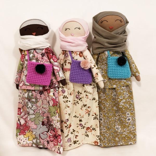 Sofia Handmade Heirloom Hijab Doll (Hitam Manis Edition)3