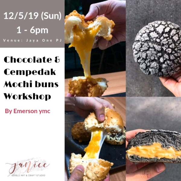 12/5 Taiwanese Style Cempedak & Chocolate Mochi Sweet Buns Workshop