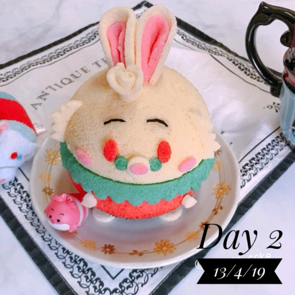 13 April_ 3d Mr Rabbits Chiffon Cake