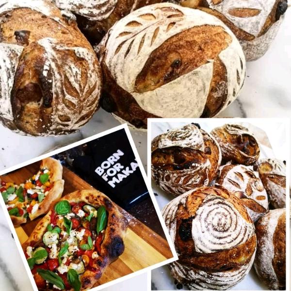 1/5 Sourdough Red Wine Logan Loaf & Pizza Workshop0