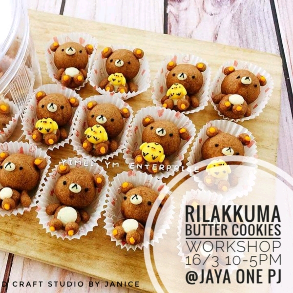 16/3  Rilakkuma Butter Cookies Workshop