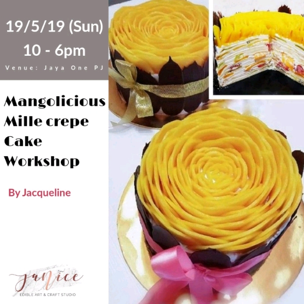 19/5 Mangolicious Mille Crepe Cake Workshop