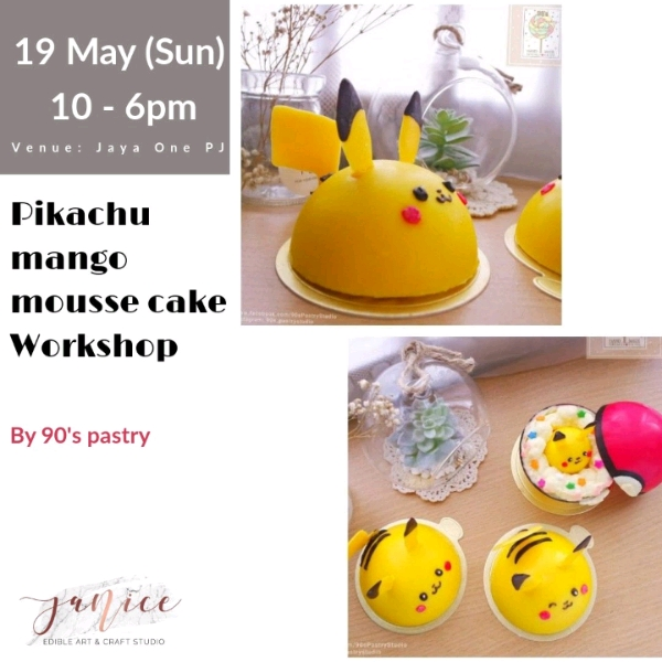 19/5 Pikachu Mango Yogurt Mousse Cake Workshop0