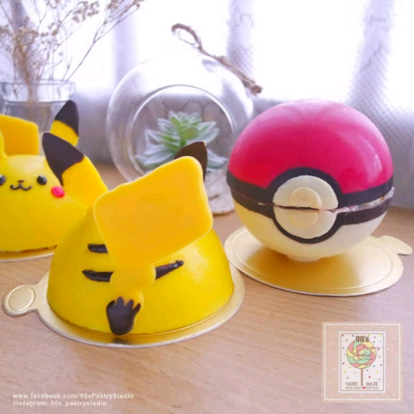 19/5 Pikachu Mango Yogurt Mousse Cake Workshop2