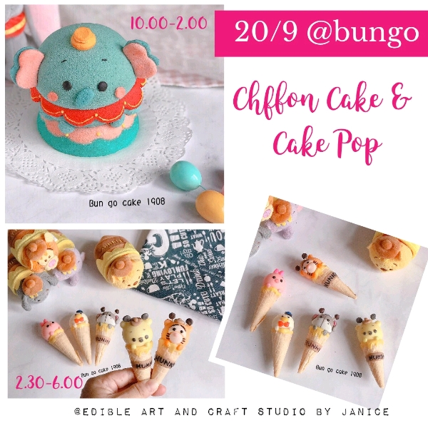 20/9  2in1 3D Dumbo Chiffon Cake& Cakepop Workshop