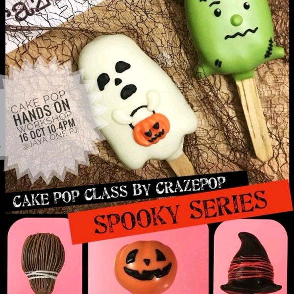 Halloween Cakepop Hands On Workshop (2pax)