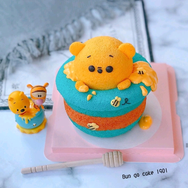 21/9  2in1 Winnie the Pooh Chiffon Cake& Marshmallow Workshop1