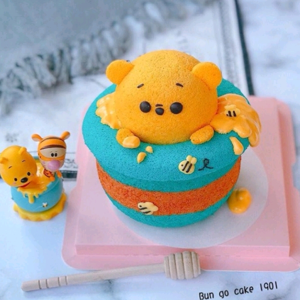 21/9  Winnie the Pooh Chiffon Cake Workshop