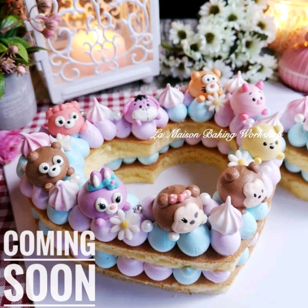 23/3 2in1 TsumTsum Meringue cookies & Mongram Cake Workshop