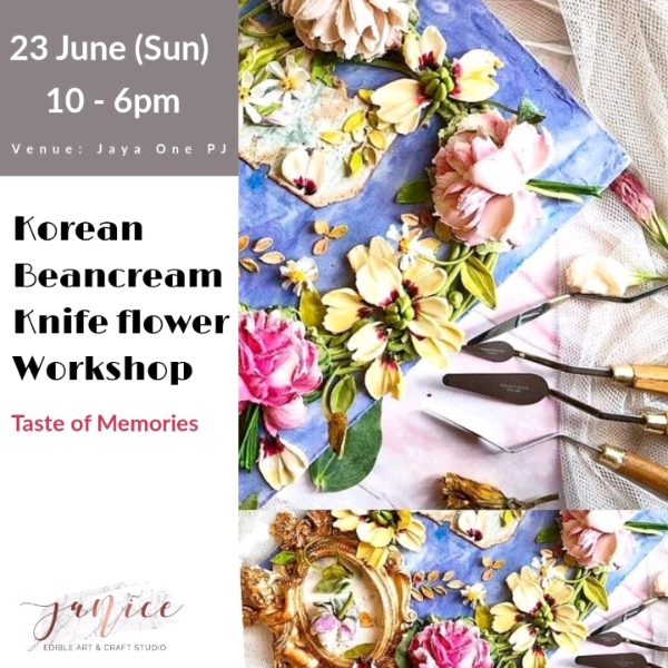 23/6 Korean Beancream Knife Flower Workshop0