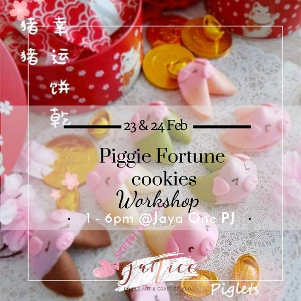 23/2 Piggie Fortune cookies Hand On Workshop