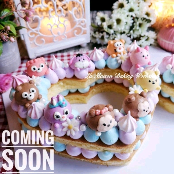 24/3 2in1 TsumTsum Meringue cookies & Mongram Cake Workshop0