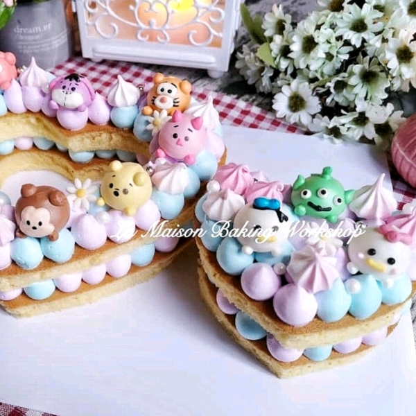 24/3 2in1 TsumTsum Meringue cookies & Mongram Cake Workshop1