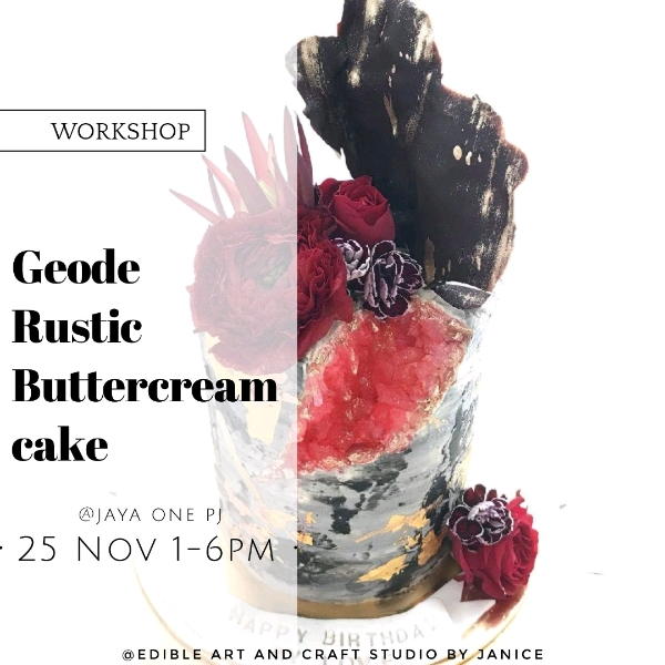 25 Nov_Geode Rustic Buttercream Cake Workshop