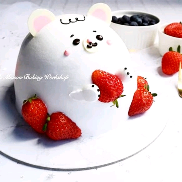 26/5 3D Sweetie Bear With Strawberry Shortcake Workshop1