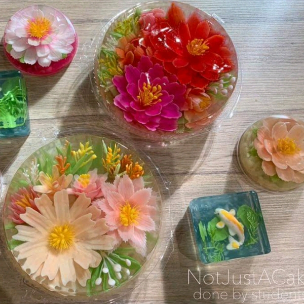 13/2 CNY 3d Jelly Flower Cake Workshop1