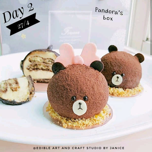 27/4 3d Cutie Bear Tiramisu  @Pandora's Box