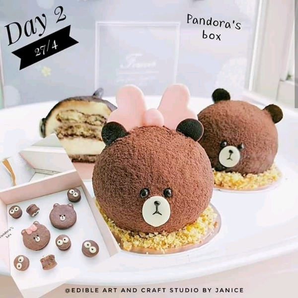 27/4 3d Cutie Bear Tiramisu + Chocolate Cookies @Pandora's Box