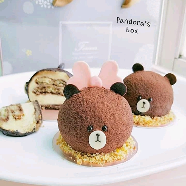 27/4 3d Cutie Bear Tiramisu + Chocolate Cookies @Pandora's Box1