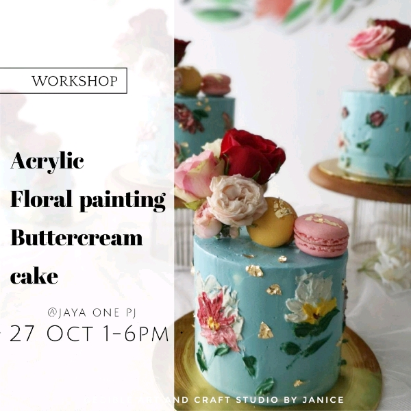 27 Oct_ Acrylic Floral Painting Hands On Workshop