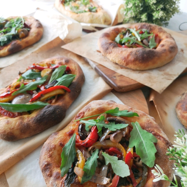 29/6 Red Wine Longan Walnut Wild Yeast Boule & Pizza Workshop2