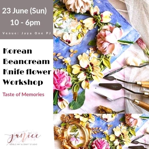 (2pax) Korean Beancream Knife Flower Workshop0