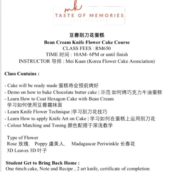 (2pax) Korean Beancream Knife Flower Workshop2