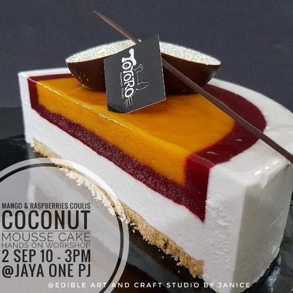2_sep Mango & Raspberries Coconut Mousse Cake0
