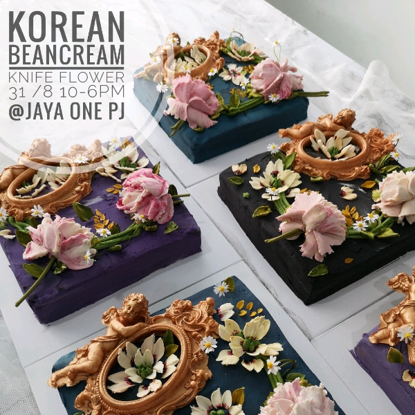 31/8 Korean Beancream Knife Flower Workshop