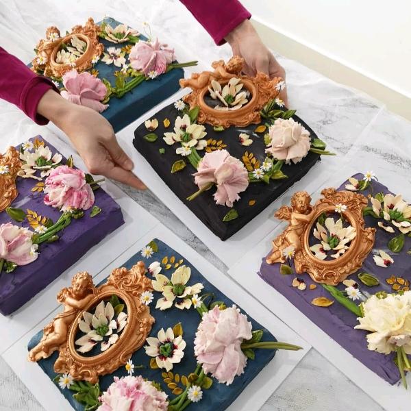31/8 Korean Beancream Knife Flower Workshop1