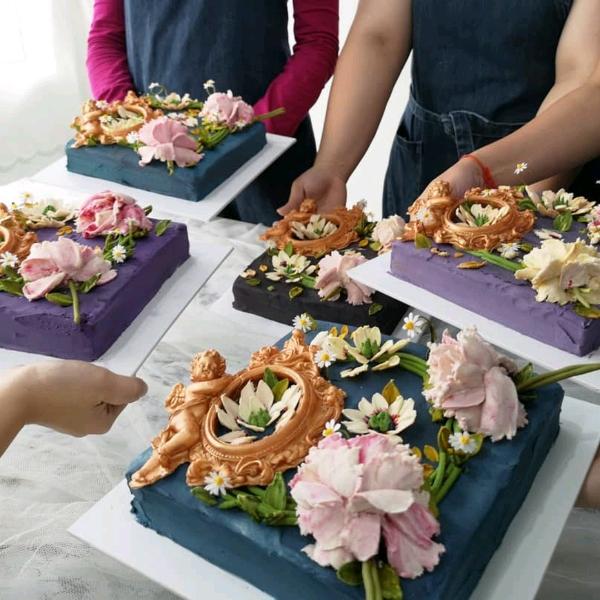31/8 Korean Beancream Knife Flower Workshop2