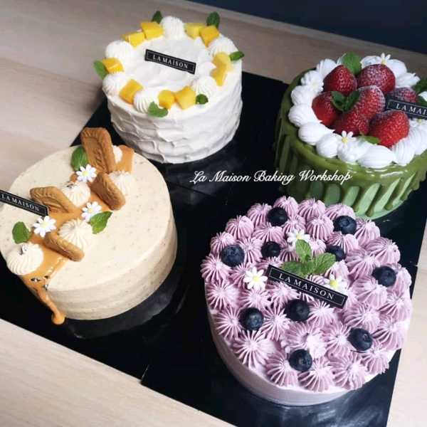 8/9  4in1 Korean Style Fresh Cream Cake