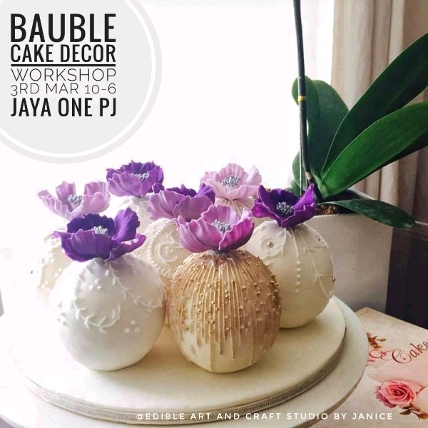 Bauble cake Decor workshop0