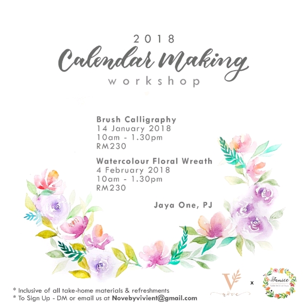 Brush Calligraphy & DIY Calender Workshop0