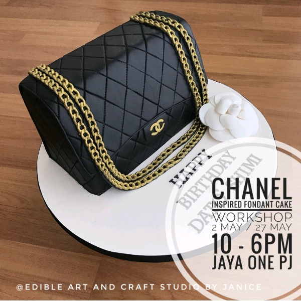 CHANEL inspired Fondant Cake Workshop0