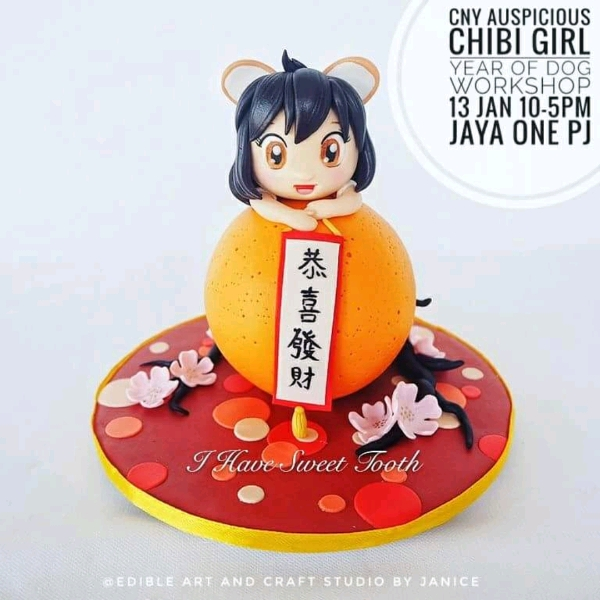 CNY Auspicious Chibi Girl Hands On Fondant Workahop0