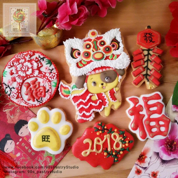CNY Theme Royal Icing Cookies Workshop0