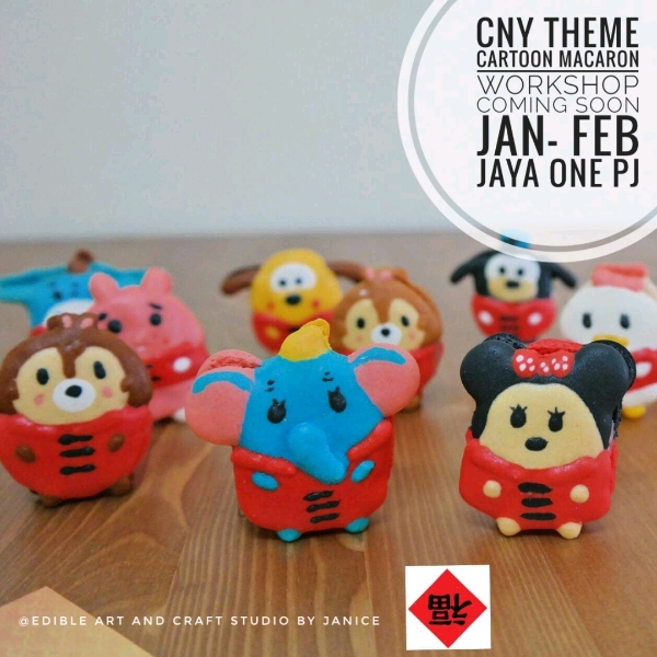 Cartoon CNY Theme Hands On Macarons Workshop0